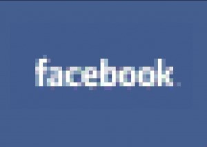 facebook logo blurred