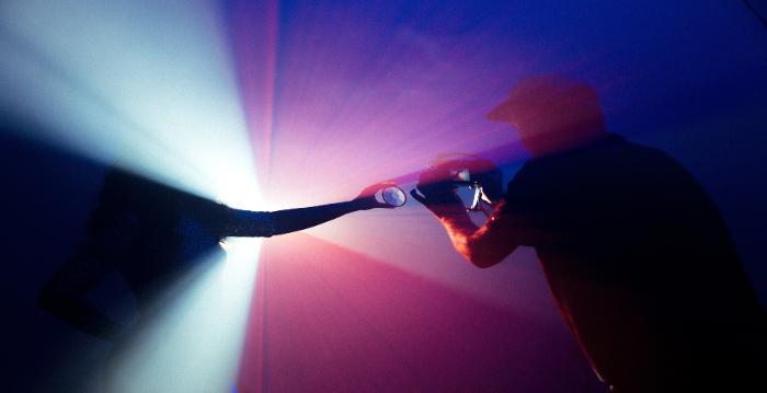Dark blue light blue pink red color splash. Liam Hennessy, Digital Strategist