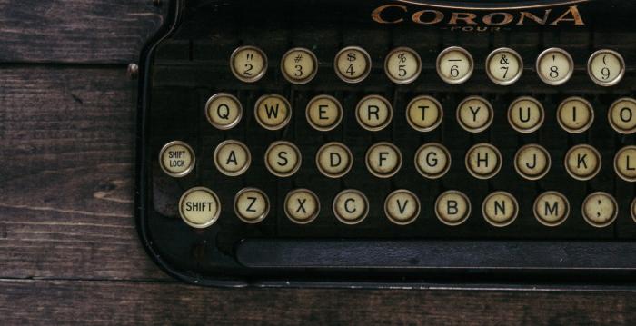 Corona typewriter keyboard. Liam Hennessy, Digital Strategist